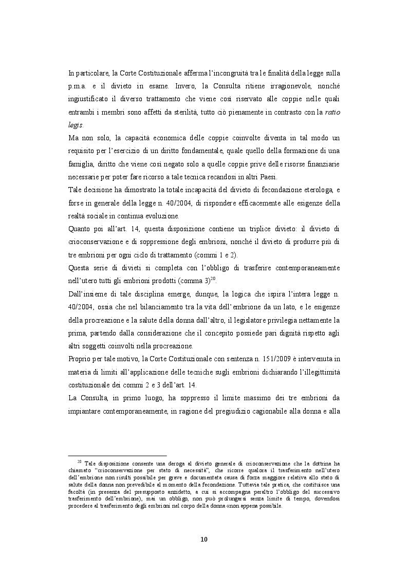 Estratto dalla tesi: La procreazione medicalmente assistita e le malattie genetiche: Un'analisi comparativa tra Italia e Spagna