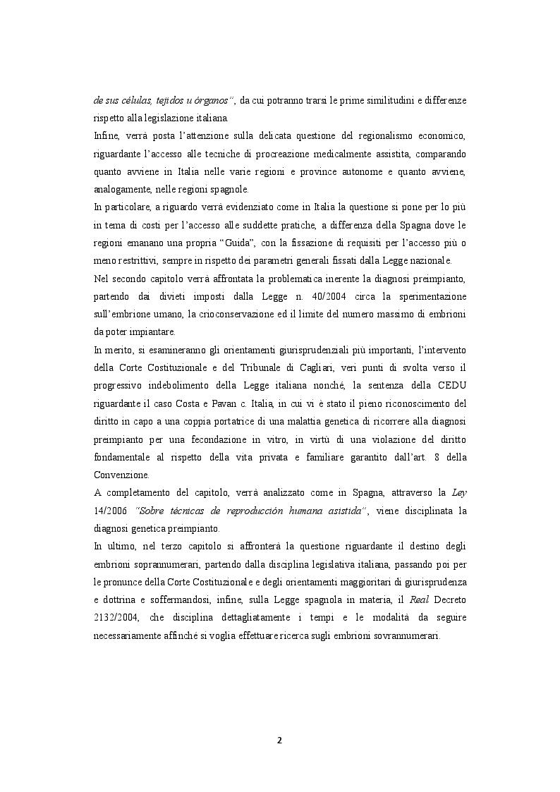 Anteprima della tesi: La procreazione medicalmente assistita e le malattie genetiche: Un'analisi comparativa tra Italia e Spagna, Pagina 3