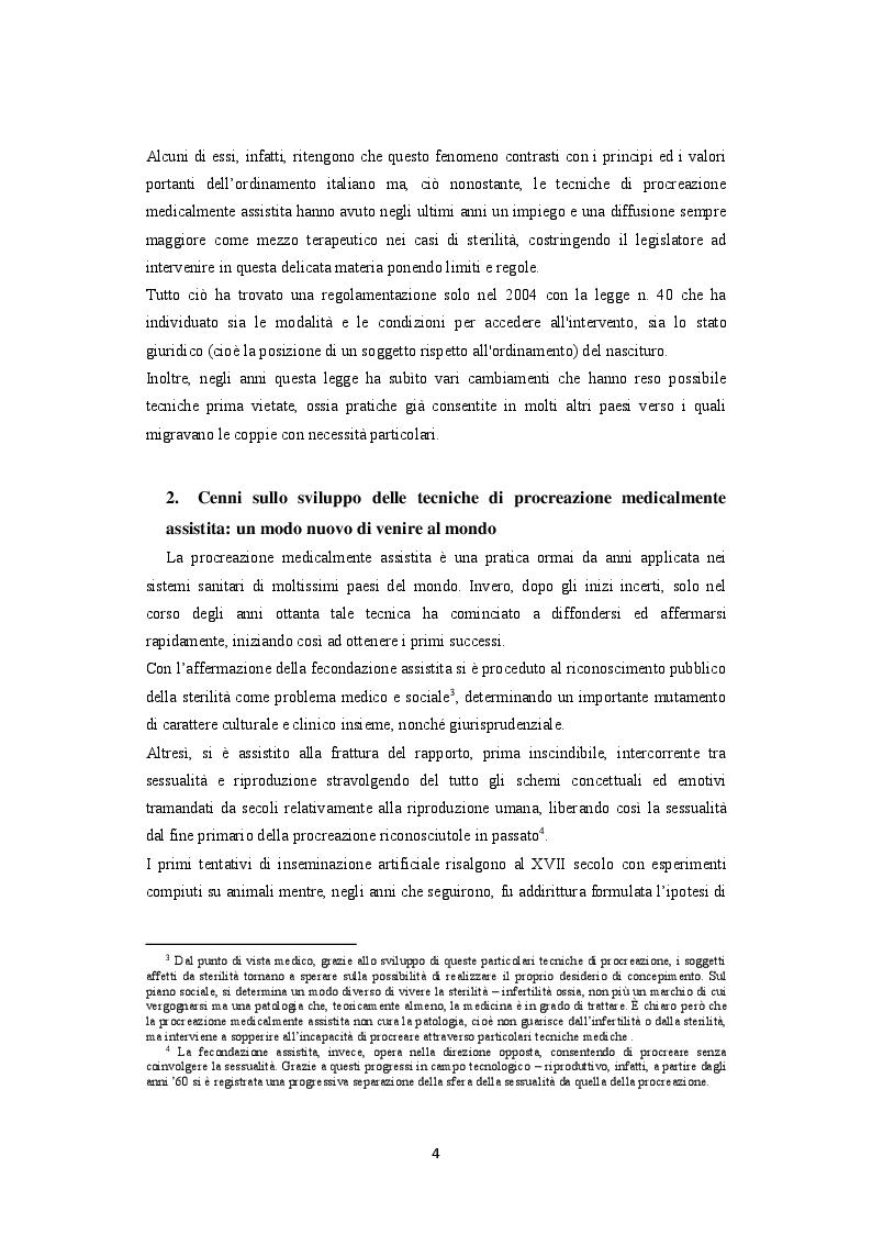 Anteprima della tesi: La procreazione medicalmente assistita e le malattie genetiche: Un'analisi comparativa tra Italia e Spagna, Pagina 5