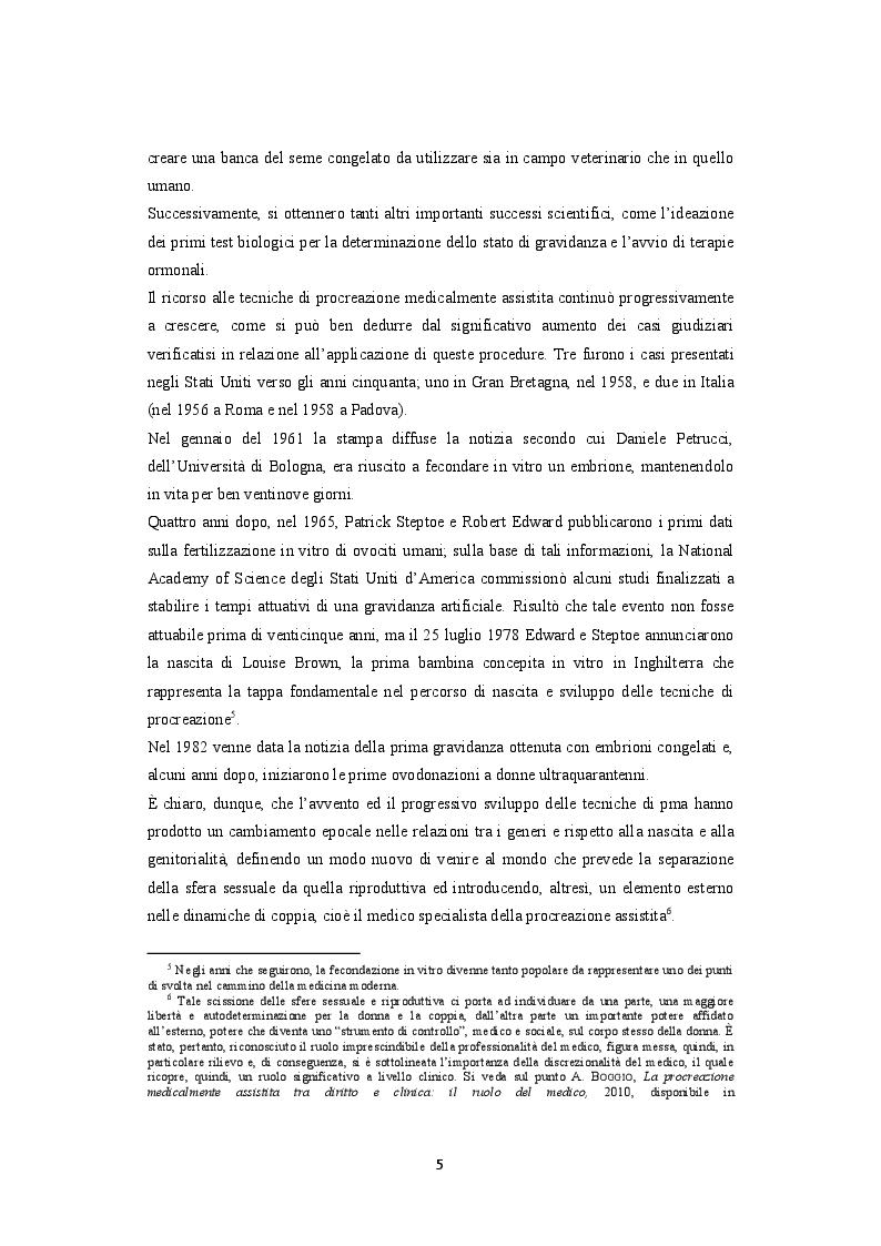 Anteprima della tesi: La procreazione medicalmente assistita e le malattie genetiche: Un'analisi comparativa tra Italia e Spagna, Pagina 6