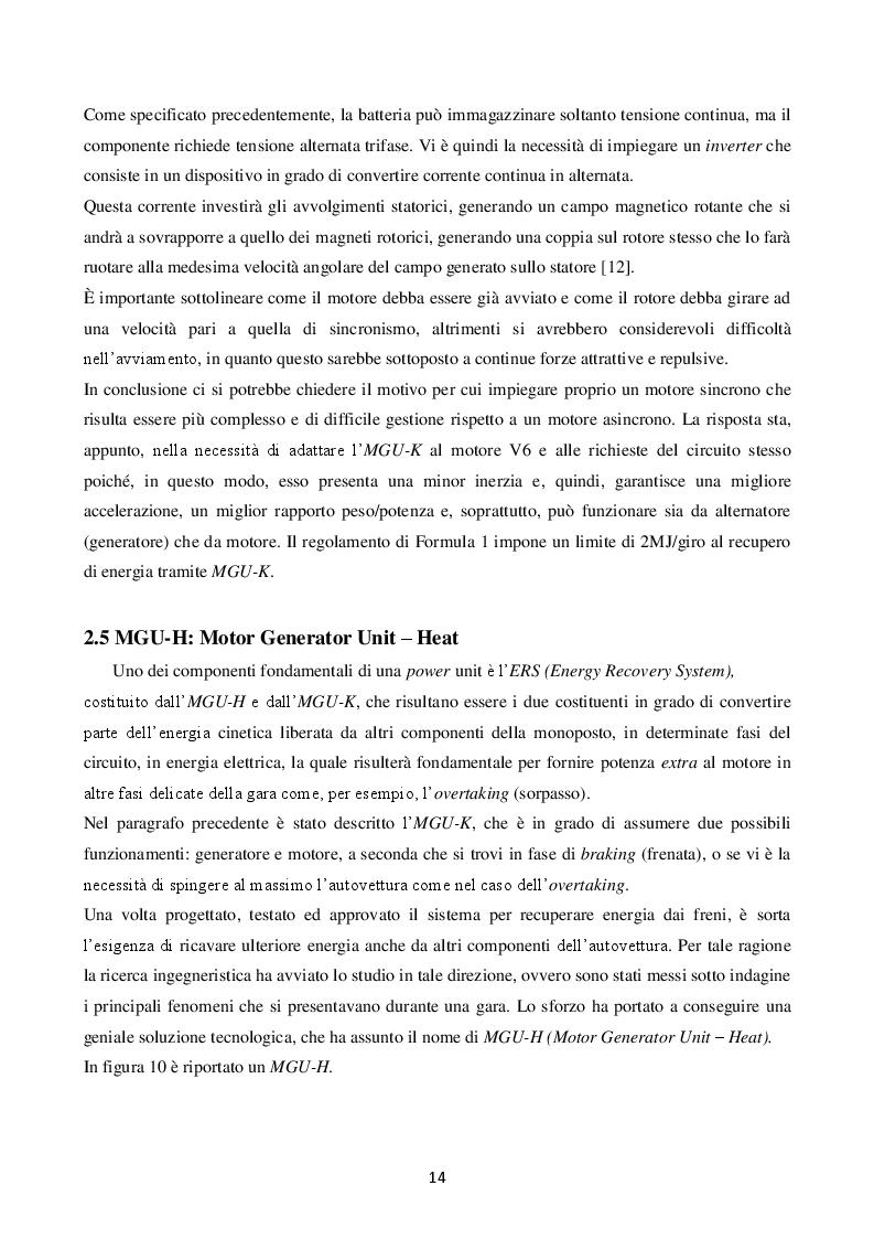 Estratto dalla tesi: La power unit nella formula uno