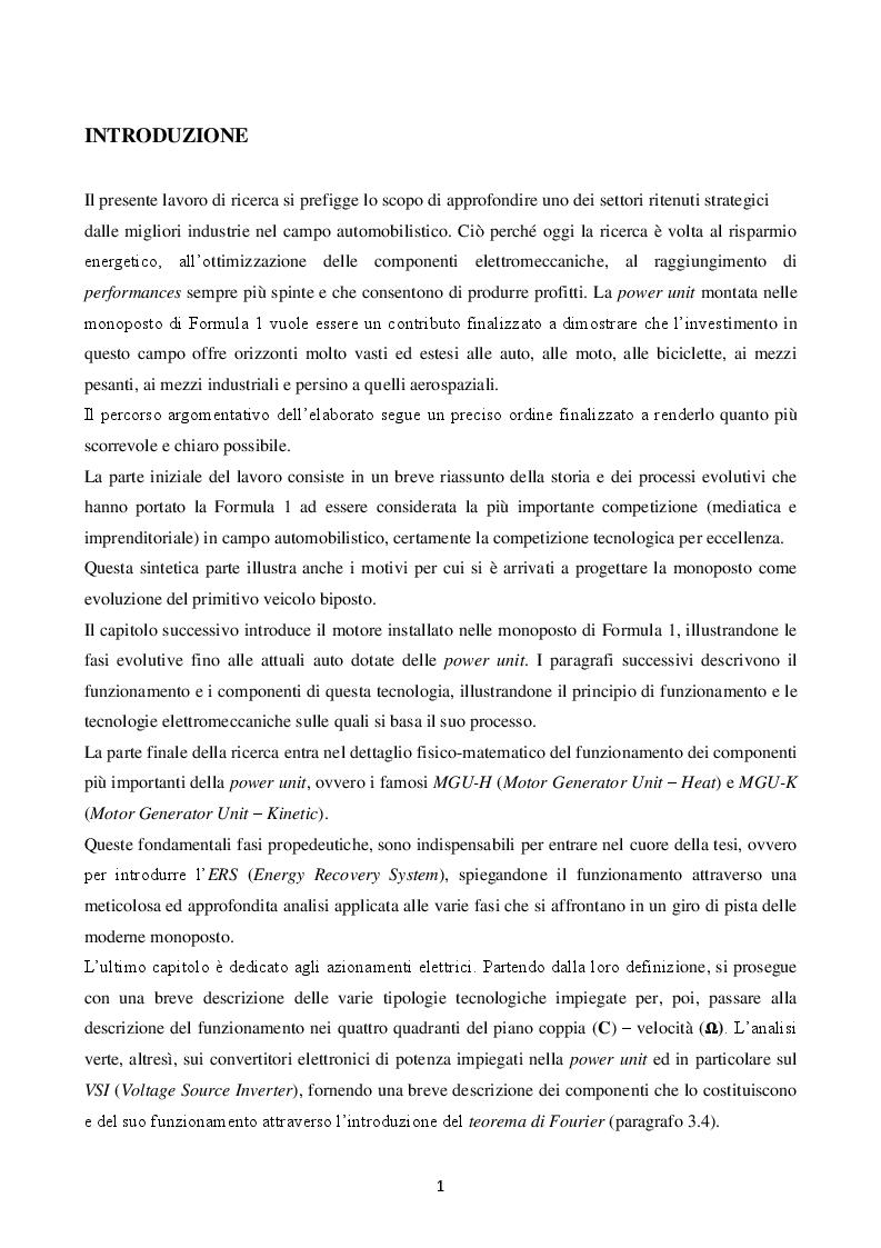 Anteprima della tesi: La power unit nella formula uno, Pagina 2