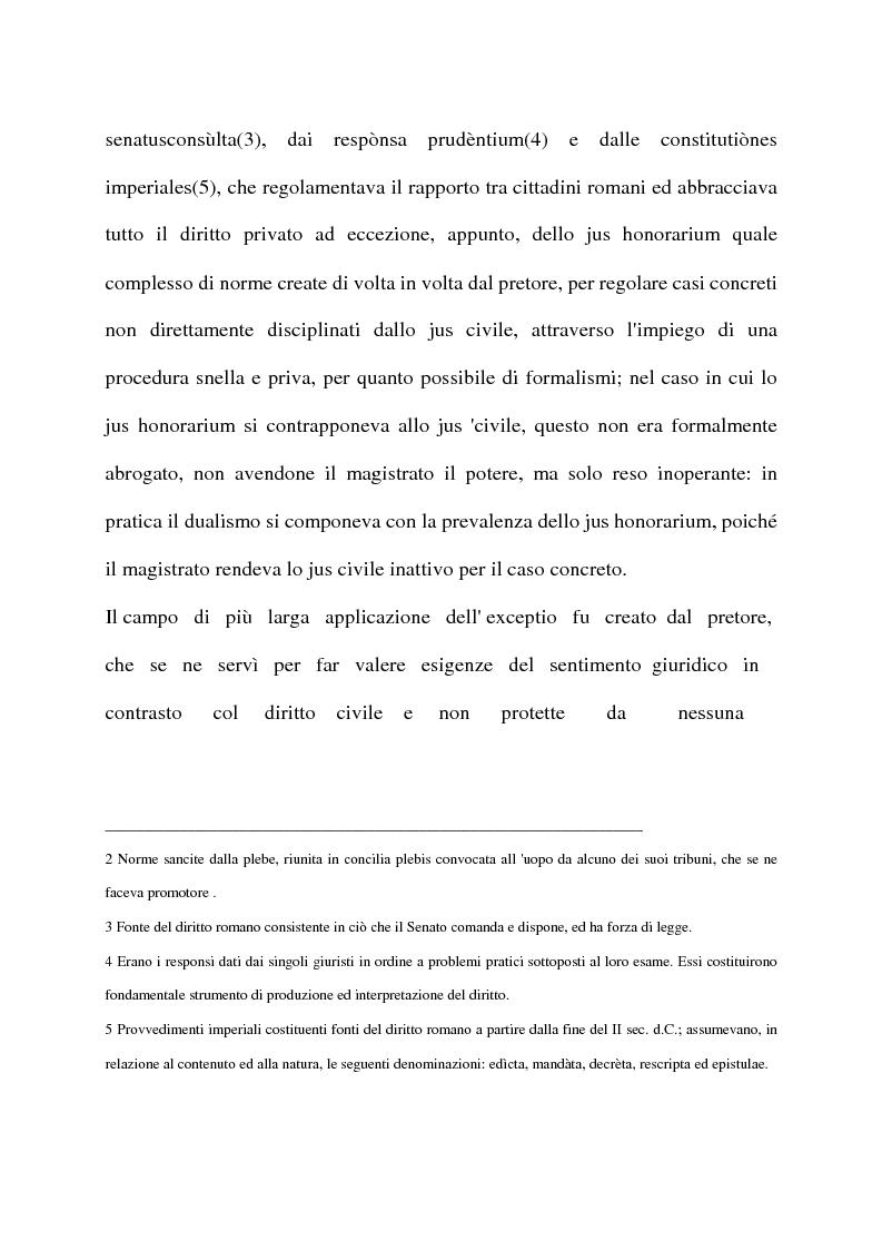 Anteprima della tesi: La exceptio doli generalis, Pagina 3
