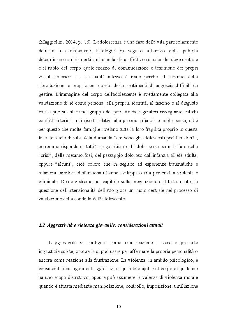 Anteprima della tesi: Mors tua vita mea: aggressività e violenza giovanile tra le mura domestiche. Dall'inquietudine all'omicidio, Pagina 5