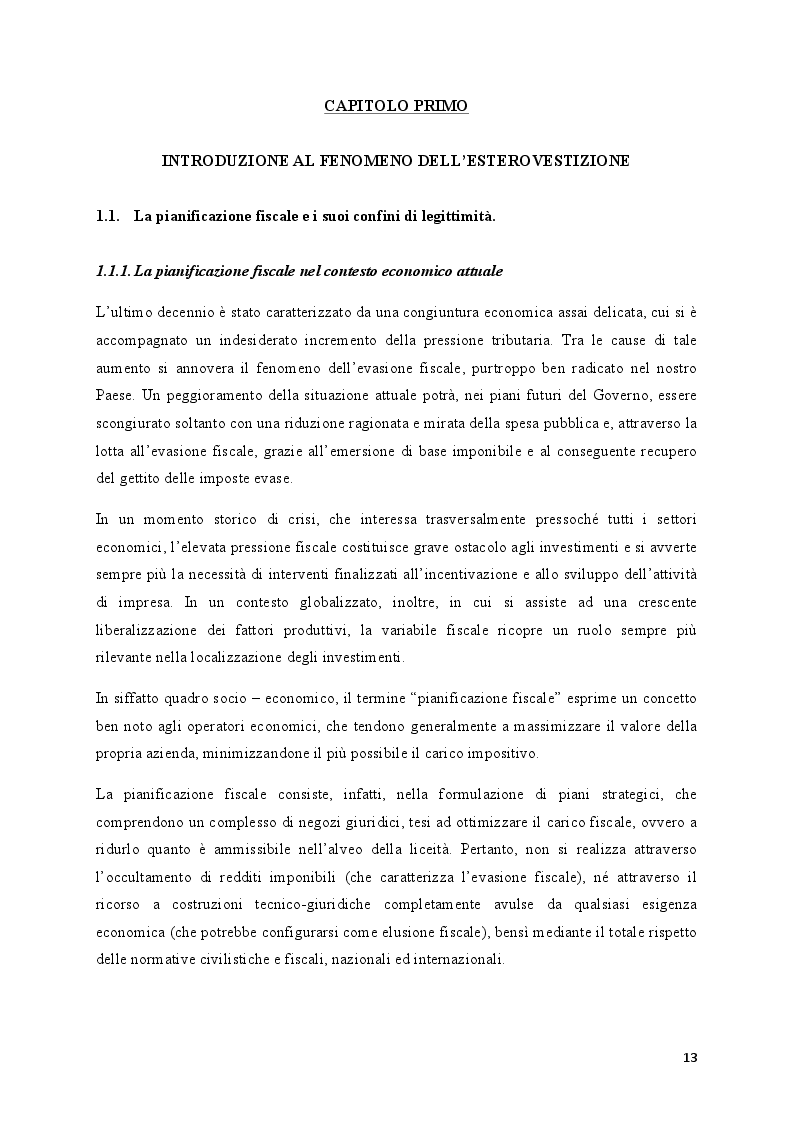 Anteprima della tesi: Il fenomeno dell'esterovestizione: profili penali, Pagina 6