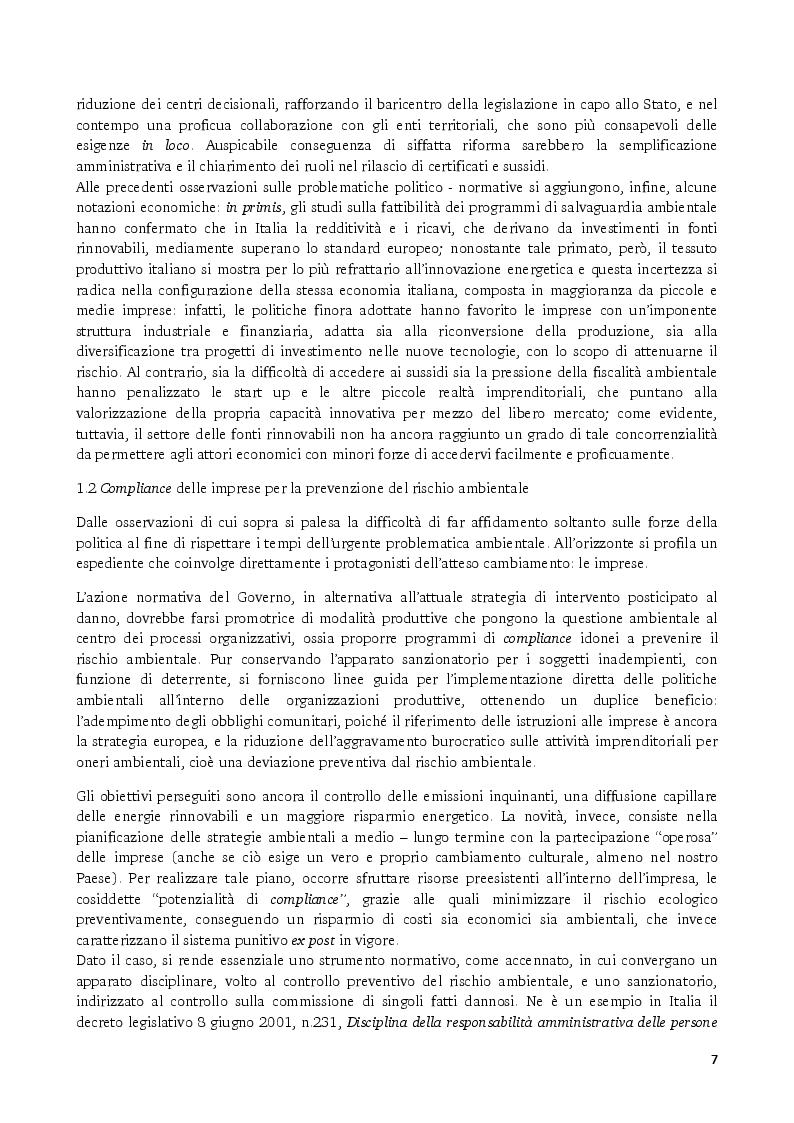 Anteprima della tesi: Gli strumenti volontari per la rendicontazione delle performance ambientali delle imprese, Pagina 5