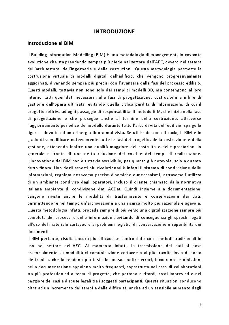 Anteprima della tesi: L'implementazione del BIM per il Facility Management - Il caso studio degli uffici della Conserva S.p.A., Pagina 3