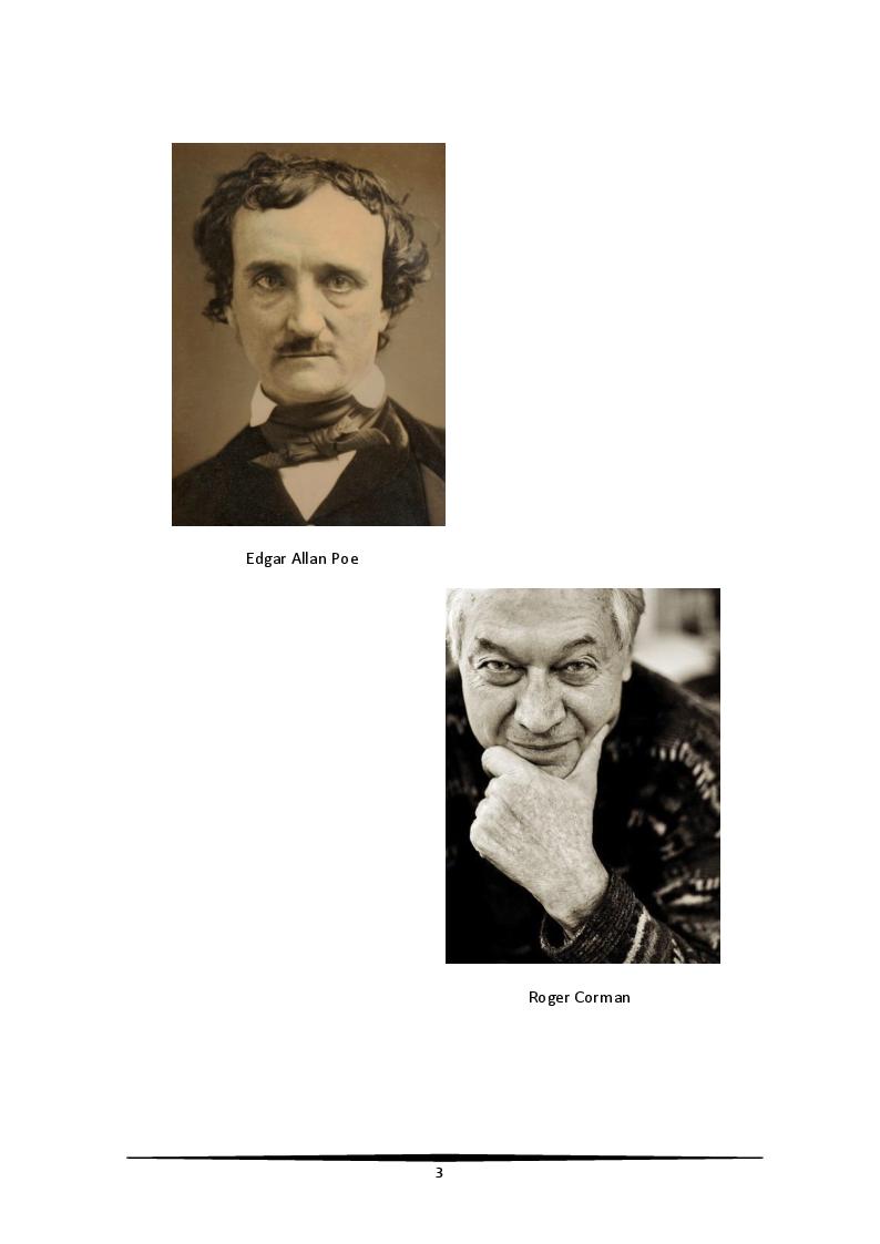Anteprima della tesi: Edgar Allan Poe visto da Roger Corman. Il terrore tra arte e artigianato, Pagina 2