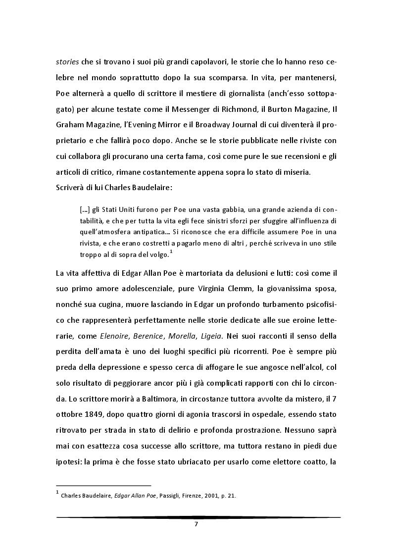 Anteprima della tesi: Edgar Allan Poe visto da Roger Corman. Il terrore tra arte e artigianato, Pagina 6