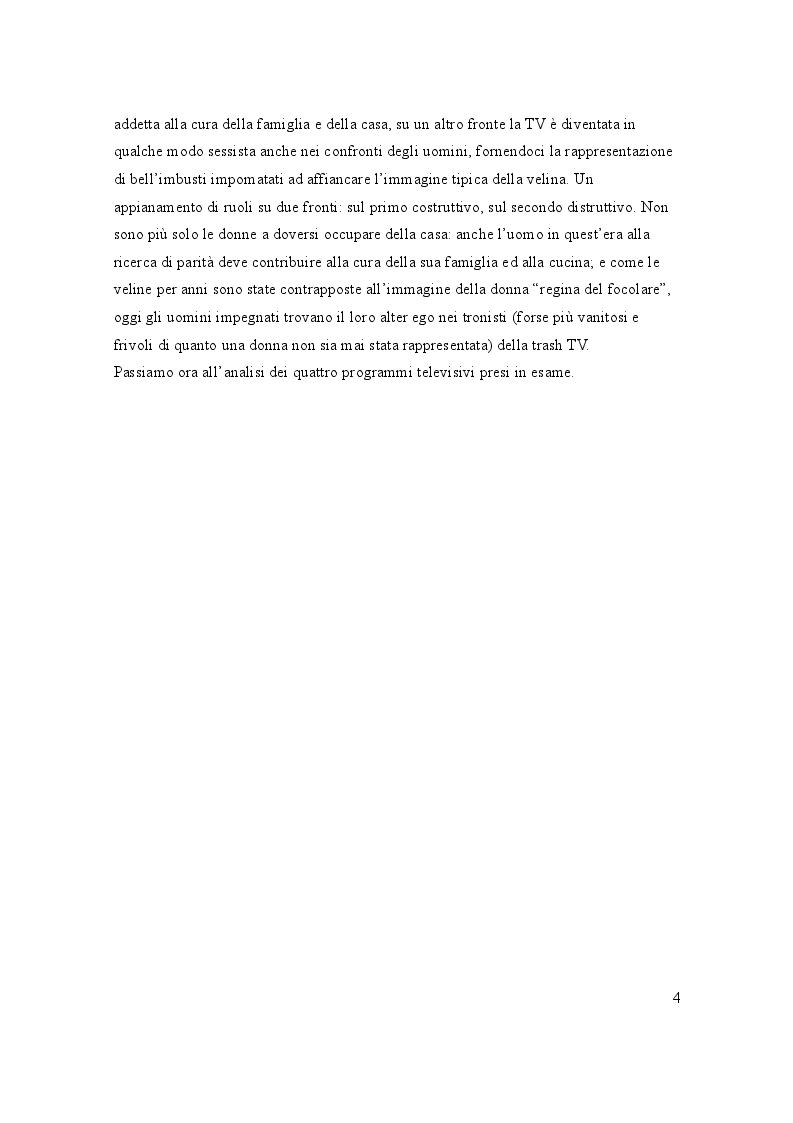 Anteprima della tesi: La rappresentazione televisiva della donna tra pubblico e privato, Pagina 3