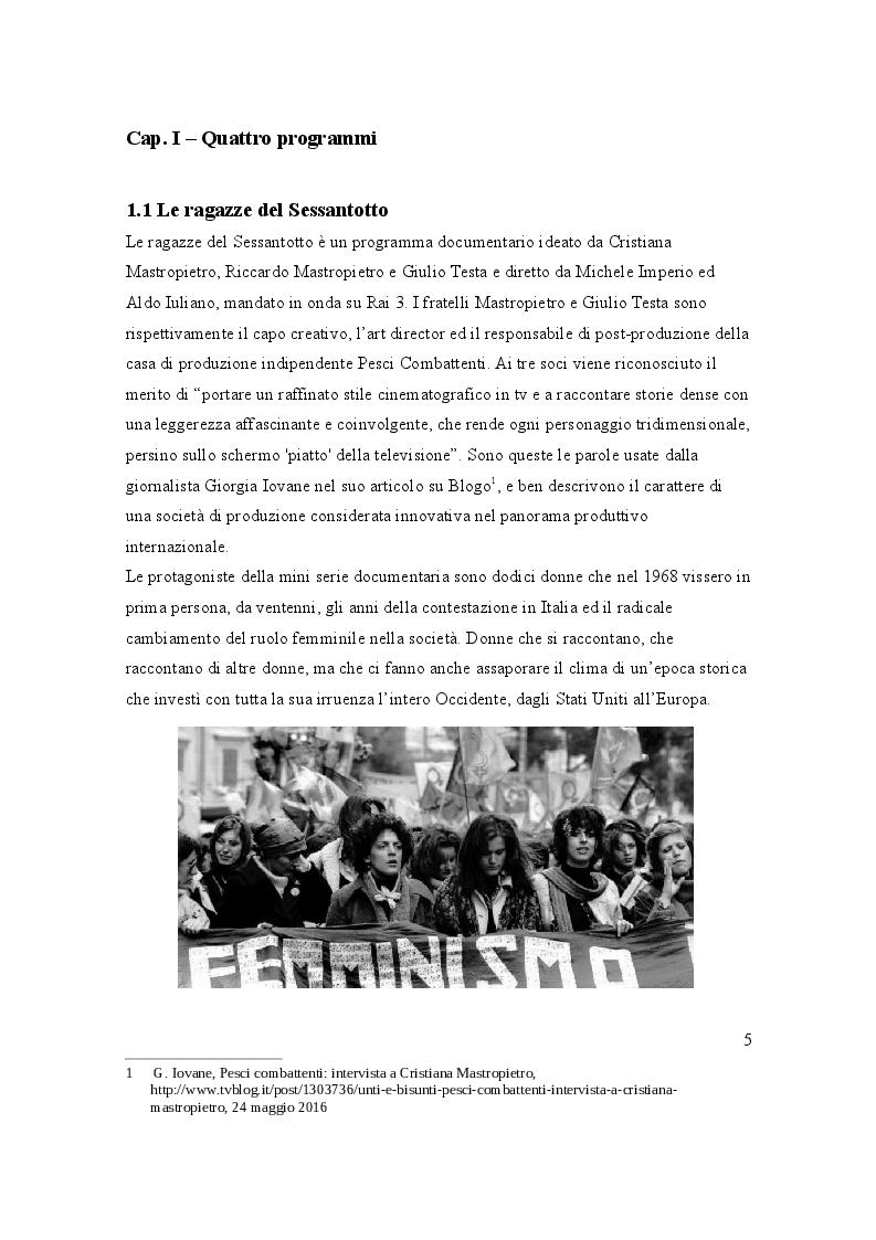 Anteprima della tesi: La rappresentazione televisiva della donna tra pubblico e privato, Pagina 4