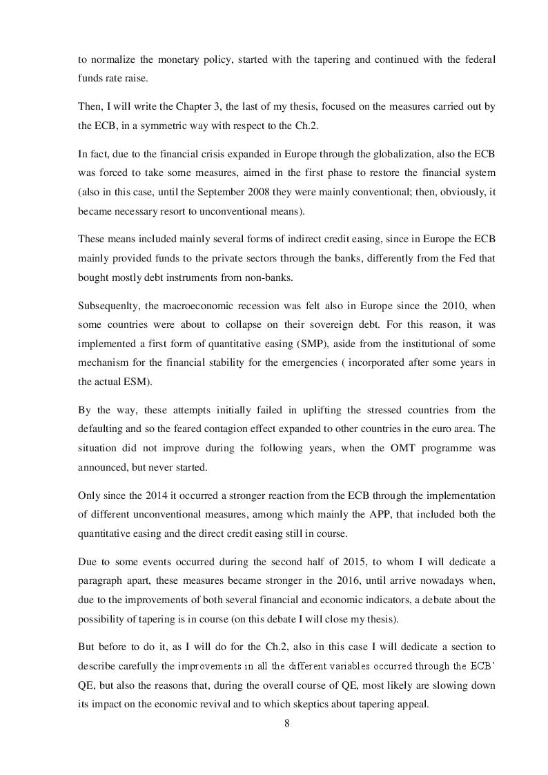 Anteprima della tesi: Quantitative Easing by the ECB and the Federal Reserve, Pagina 4