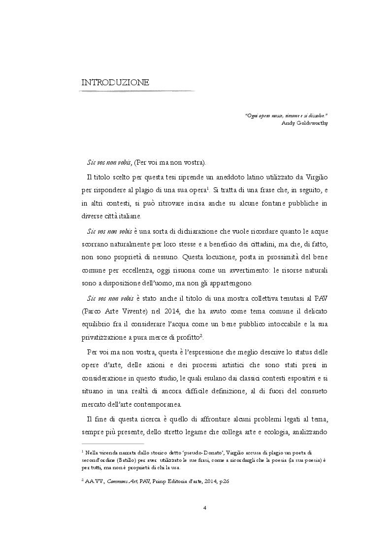 Anteprima della tesi: Sic Vos Non Vobis. Sentieri fra l'arte ambientale sostenibile nella Toscana contemporanea, Pagina 2