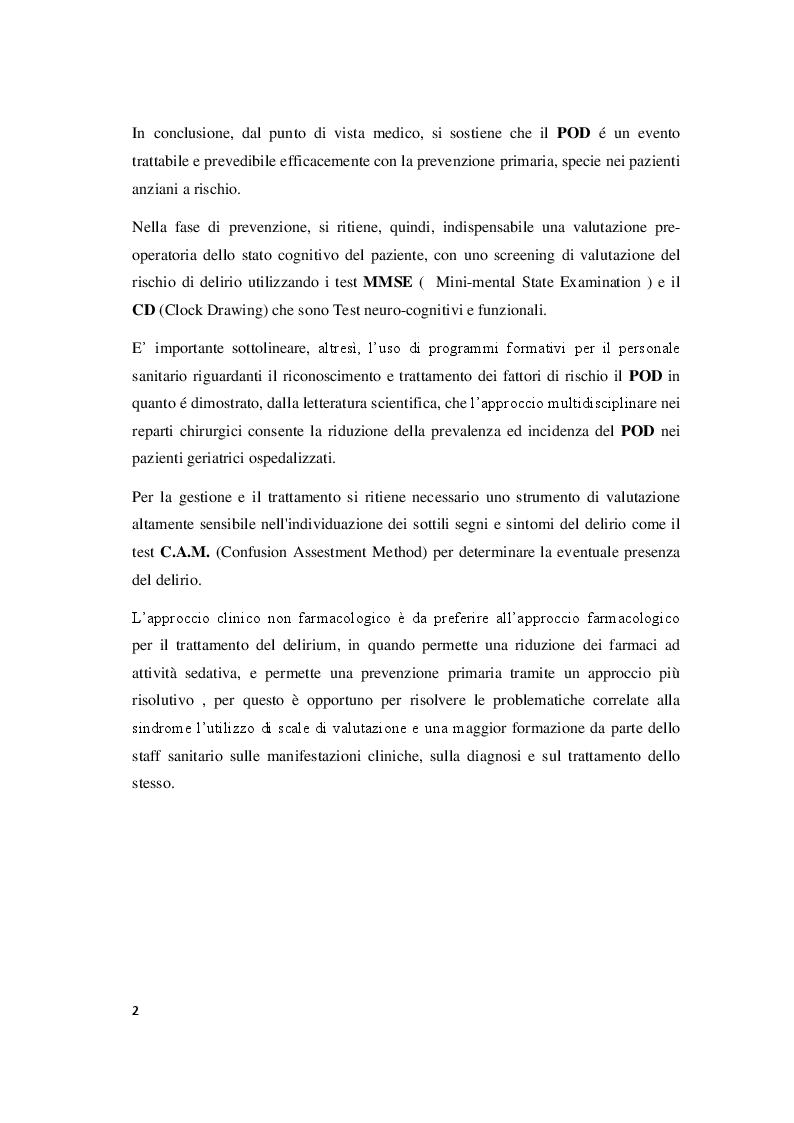 Anteprima della tesi: Il delirium postoperatorio in paziente cardiochirurgico, Pagina 3