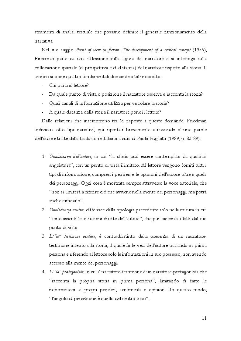 Anteprima della tesi: Questioni di punto di vista. Dalla letteratura al cinema d'animazione Disney, Pagina 12