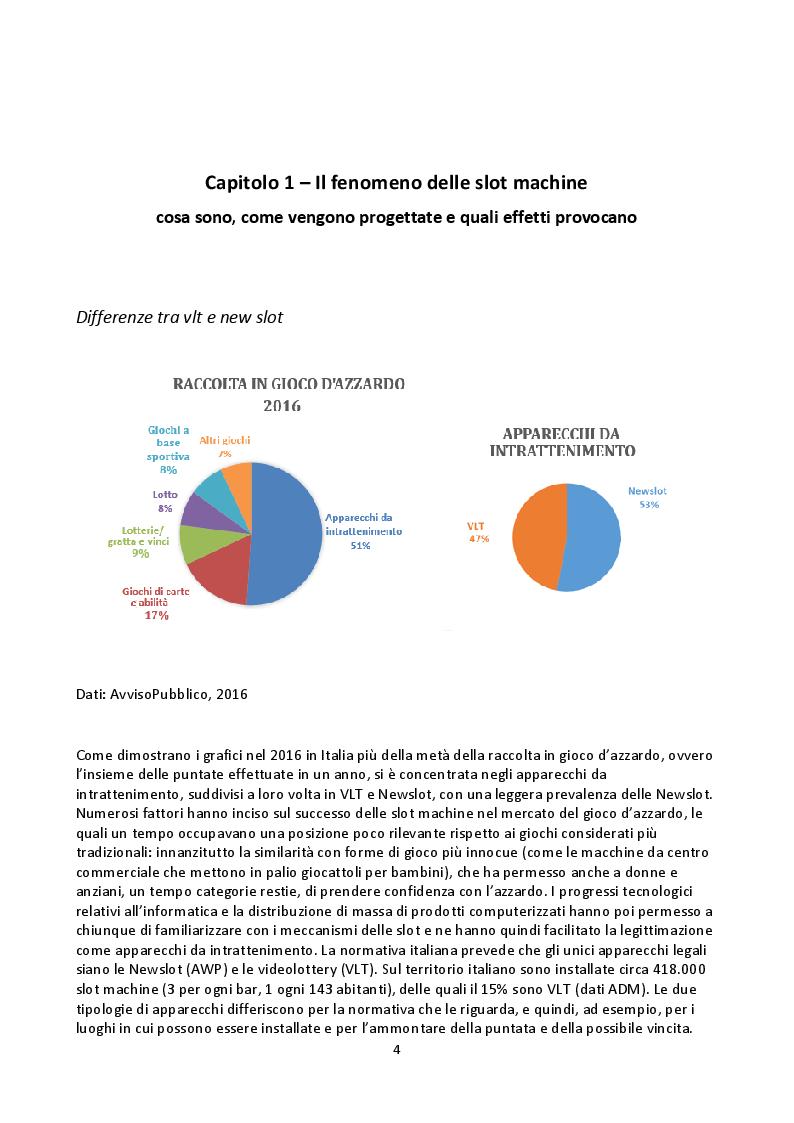 Anteprima della tesi: Il gioco d'azzardo in Italia: diffusione, caratteristiche e costi sociali, Pagina 4