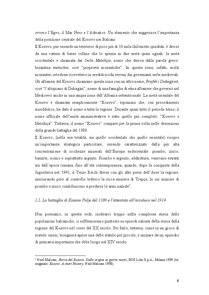 Anteprima della tesi: Come si racconta(va) la guerra: il conflitto del Kosovo nelle cronache del ''Corriere della Sera'' e del ''manifesto'', Pagina 6