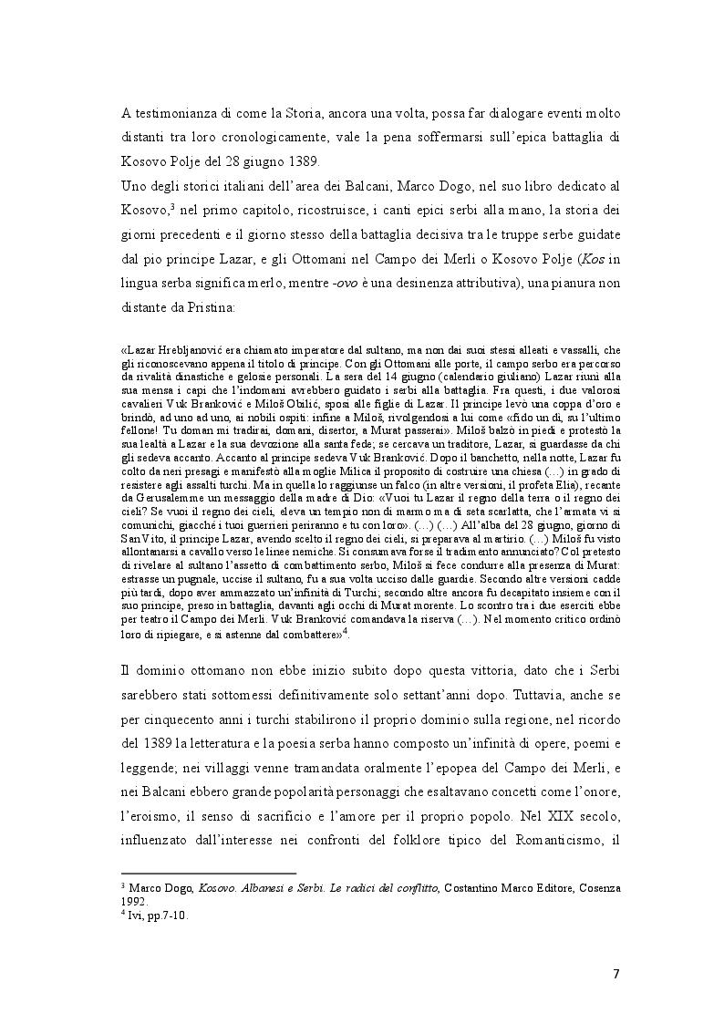 Anteprima della tesi: Come si racconta(va) la guerra: il conflitto del Kosovo nelle cronache del ''Corriere della Sera'' e del ''manifesto'', Pagina 7