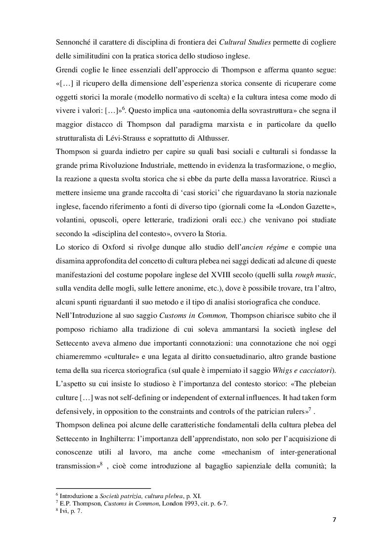 Anteprima della tesi: Edward Palmer Thompson e la cultura plebea nell'Inghilterra del XVIII secolo, Pagina 6