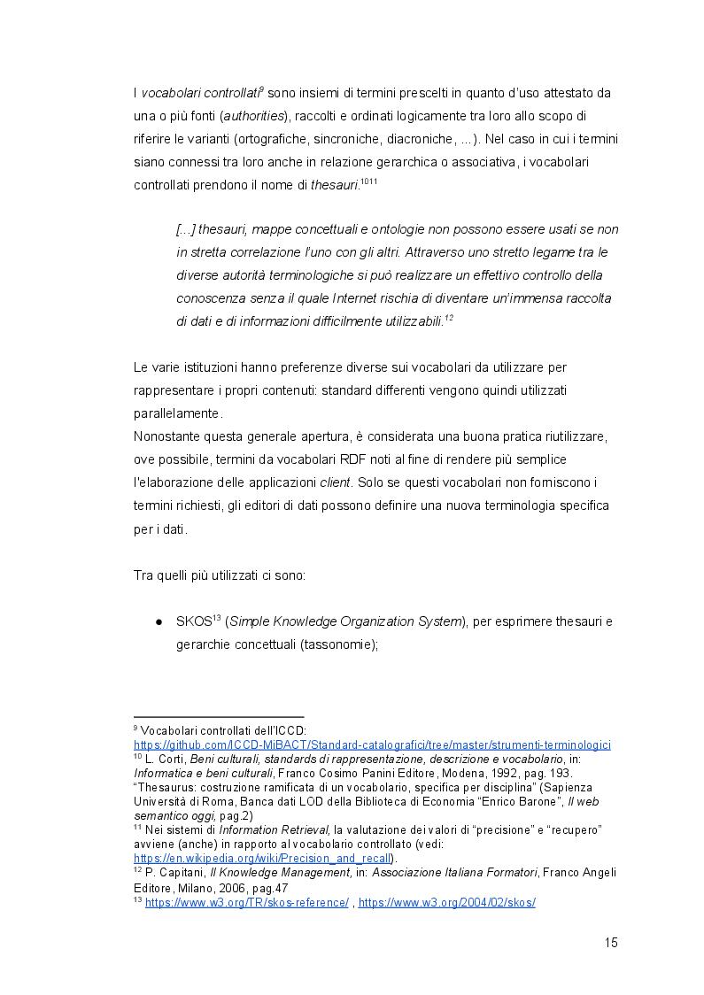 Anteprima della tesi: Linked Open Data per il Cultural Heritage italiano: conversione e pubblicazione nel Semantic Web del Fondo antico del Comune di Novi Ligure, Pagina 9