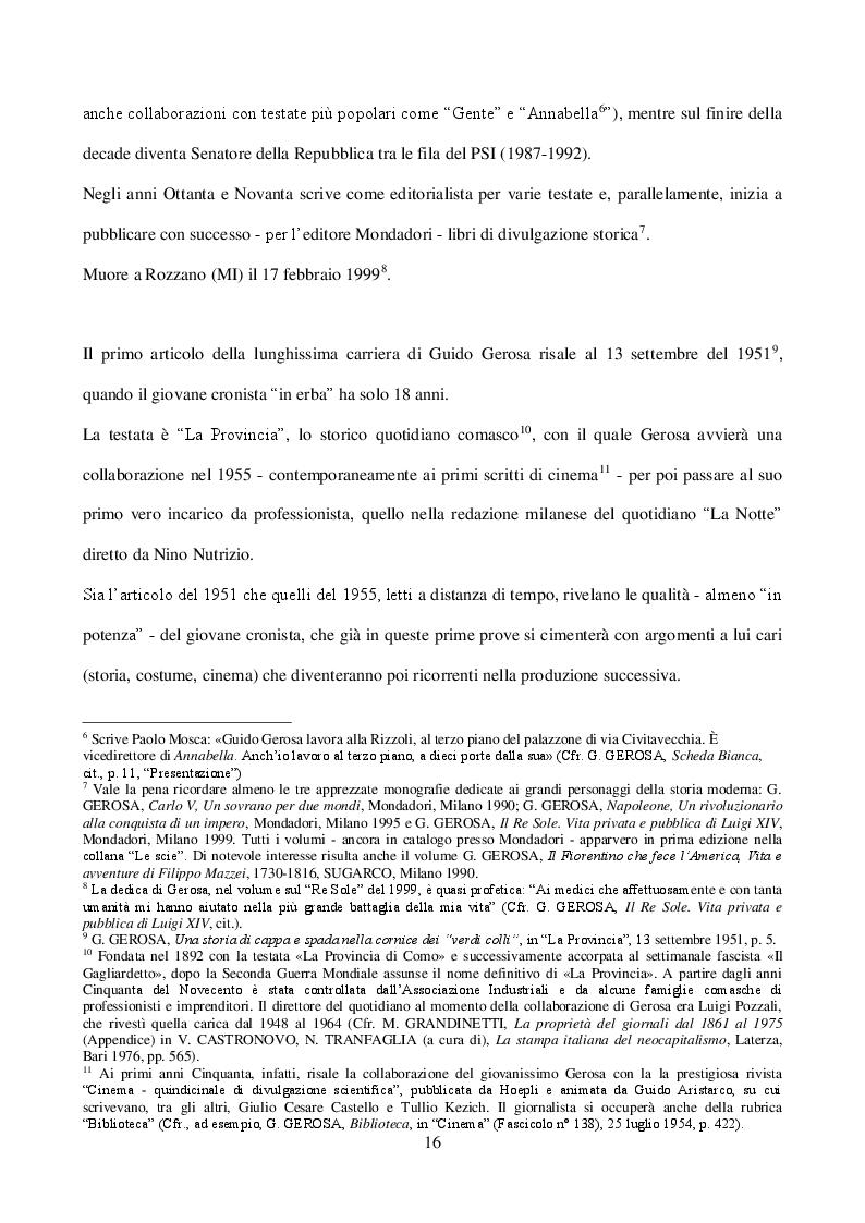 """Estratto dalla tesi: Guido Gerosa  tra cronaca e reportage: gli anni a """"Epoca"""" (1961-1967)"""