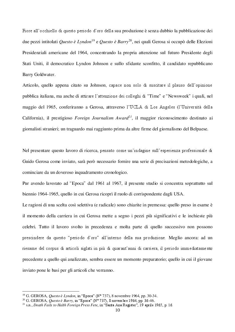 """Anteprima della tesi: Guido Gerosa  tra cronaca e reportage: gli anni a """"Epoca"""" (1961-1967), Pagina 6"""