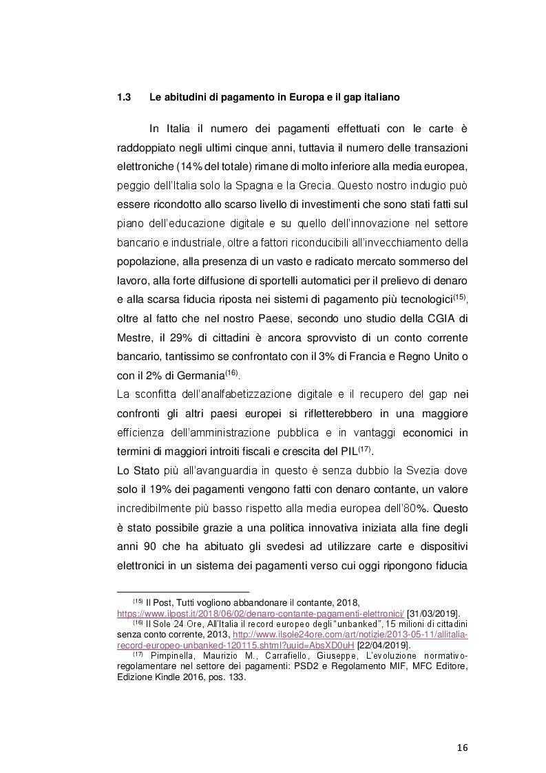 Anteprima della tesi: Payment Services Directive 2: opportunità o minaccia per le banche?, Pagina 4