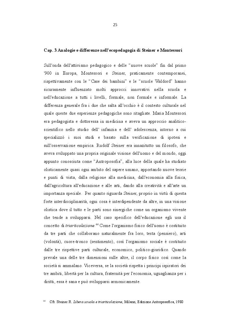 Anteprima della tesi: L'Ecopedagogia e il suo ruolo in Steiner e Montessori, Pagina 2