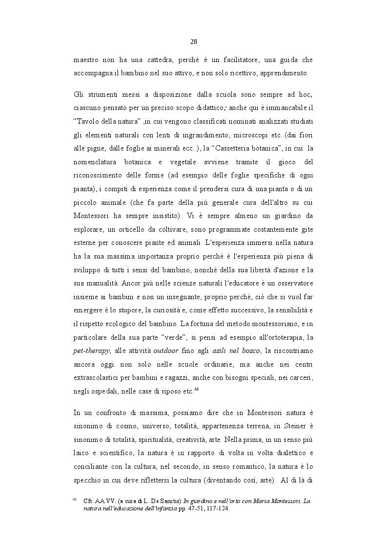 Anteprima della tesi: L'Ecopedagogia e il suo ruolo in Steiner e Montessori, Pagina 5