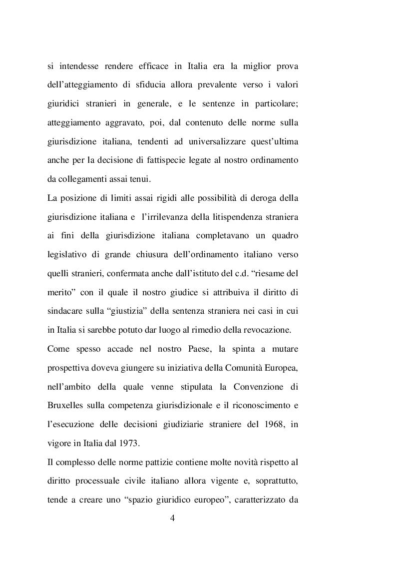 Anteprima della tesi: Sentenze straniere e Diritto internazionale privato: l'art. 65 della legge 30 maggio 1995 n. 218, Pagina 3