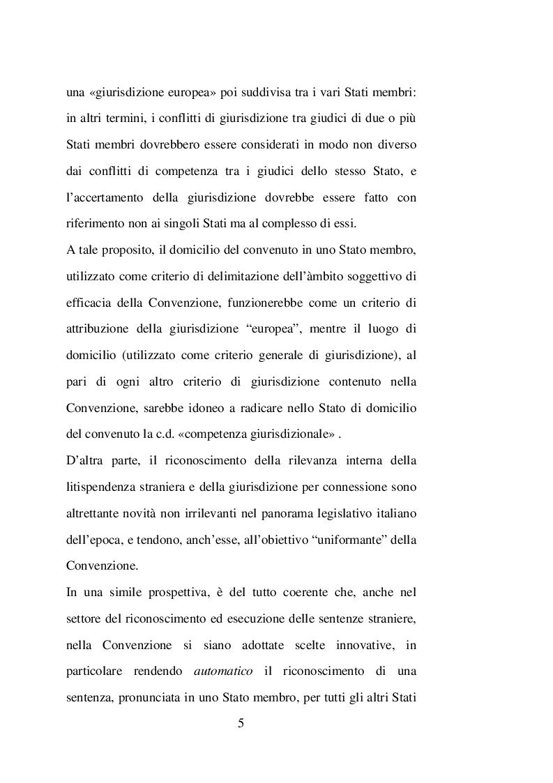 Anteprima della tesi: Sentenze straniere e Diritto internazionale privato: l'art. 65 della legge 30 maggio 1995 n. 218, Pagina 4