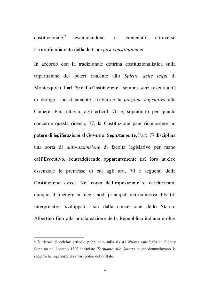 Anteprima della tesi: La decretazione d'urgenza nella riflessione costituzionalistica italiana, Pagina 3