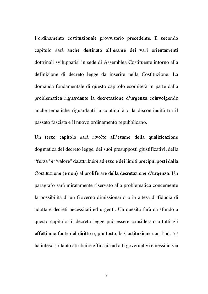 Anteprima della tesi: La decretazione d'urgenza nella riflessione costituzionalistica italiana, Pagina 5