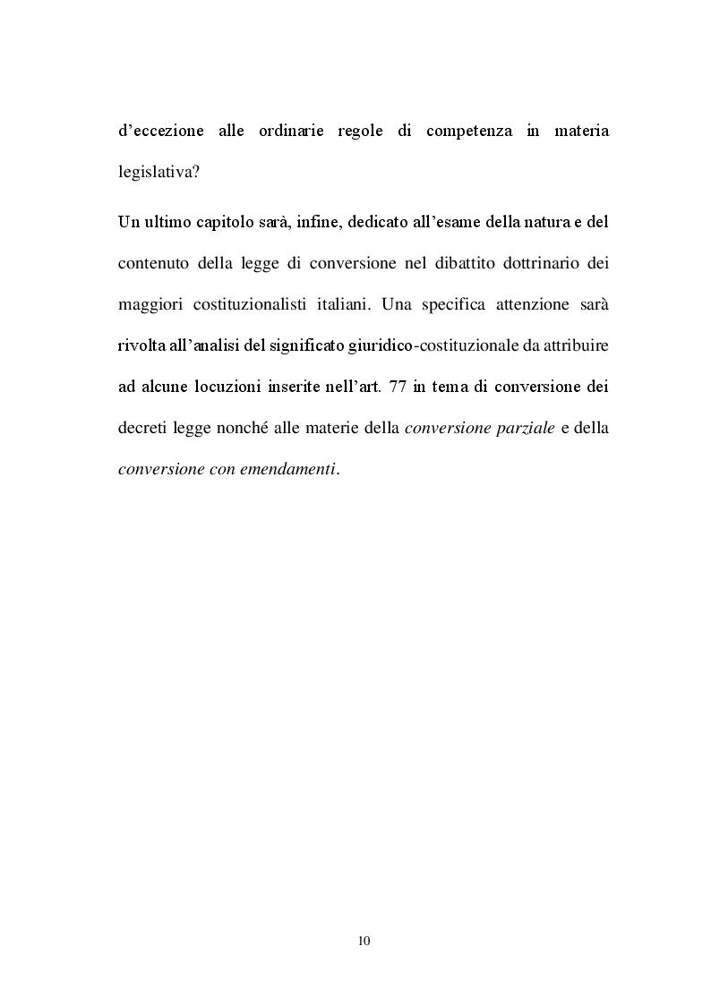 Anteprima della tesi: La decretazione d'urgenza nella riflessione costituzionalistica italiana, Pagina 6