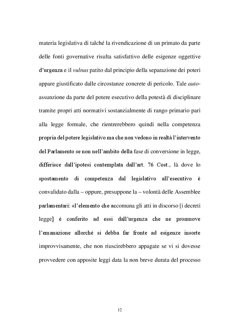 Anteprima della tesi: La decretazione d'urgenza nella riflessione costituzionalistica italiana, Pagina 8