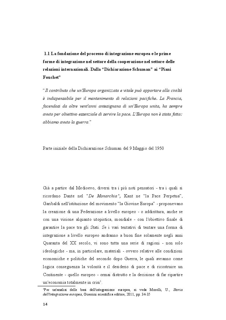 Anteprima della tesi: Il rafforzamento delle capacità delle relazioni internazionali dell'Unione Europea dopo il Trattato di Lisbona, Pagina 5