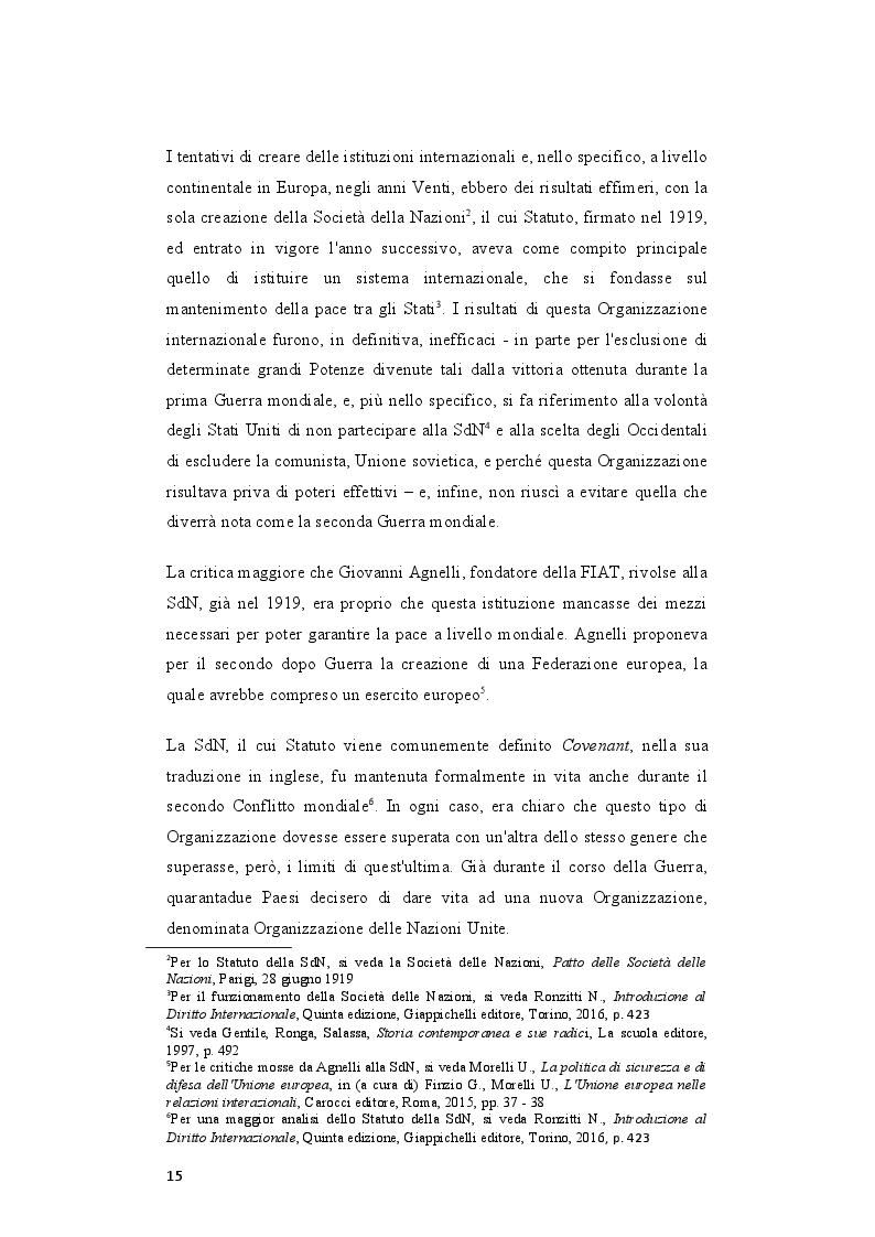 Anteprima della tesi: Il rafforzamento delle capacità delle relazioni internazionali dell'Unione Europea dopo il Trattato di Lisbona, Pagina 6