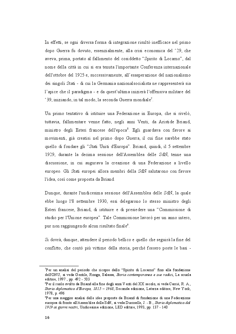 Anteprima della tesi: Il rafforzamento delle capacità delle relazioni internazionali dell'Unione Europea dopo il Trattato di Lisbona, Pagina 7