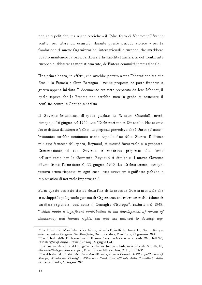 Anteprima della tesi: Il rafforzamento delle capacità delle relazioni internazionali dell'Unione Europea dopo il Trattato di Lisbona, Pagina 8