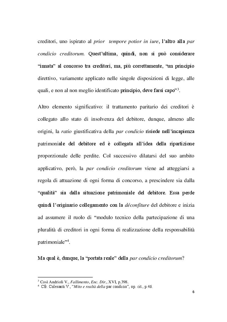 Anteprima della tesi: Par condicio e intervento dei creditori, Pagina 4