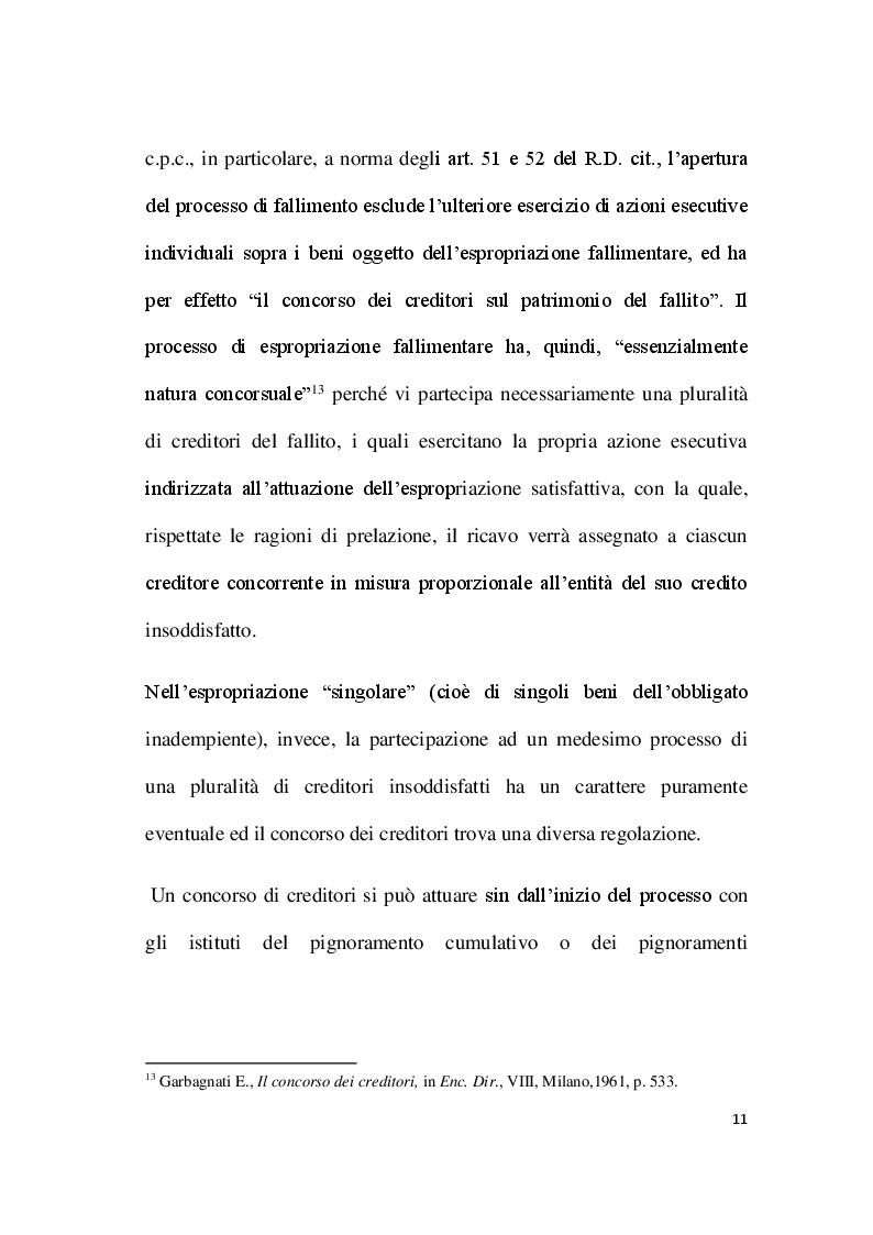 Anteprima della tesi: Par condicio e intervento dei creditori, Pagina 9