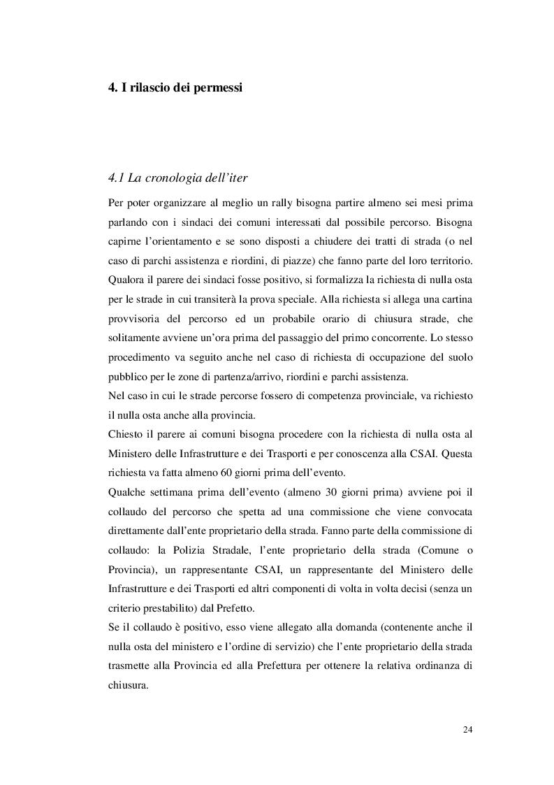 Estratto dalla tesi: Organizzare un evento sportivo - 1° Rally Valli Monregalesi