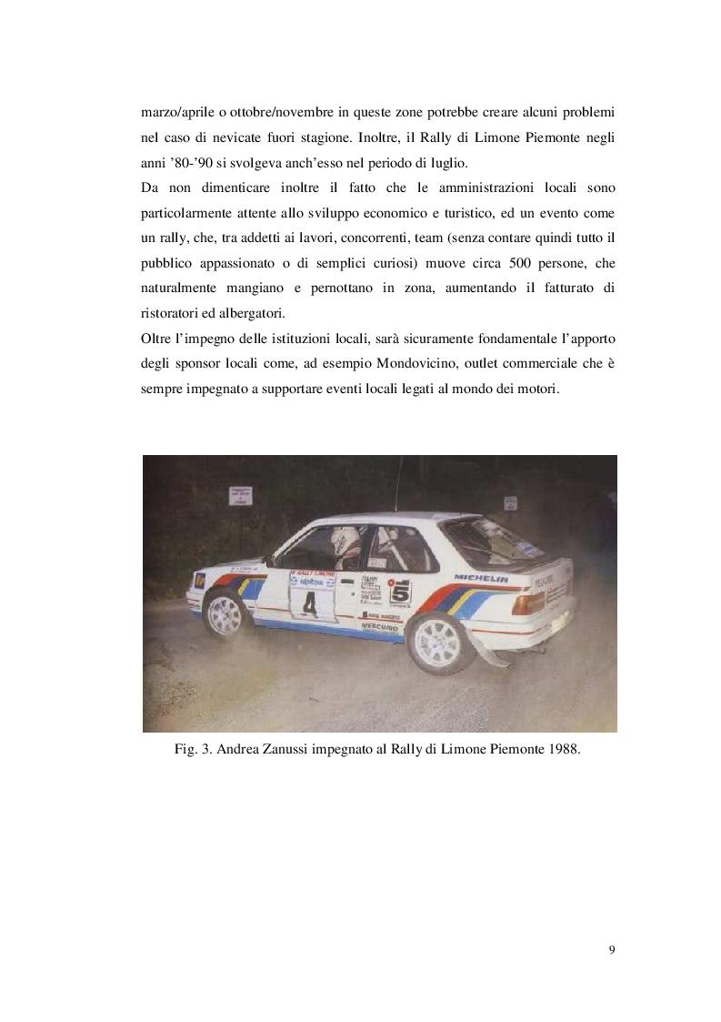 Anteprima della tesi: Organizzare un evento sportivo - 1° Rally Valli Monregalesi, Pagina 4