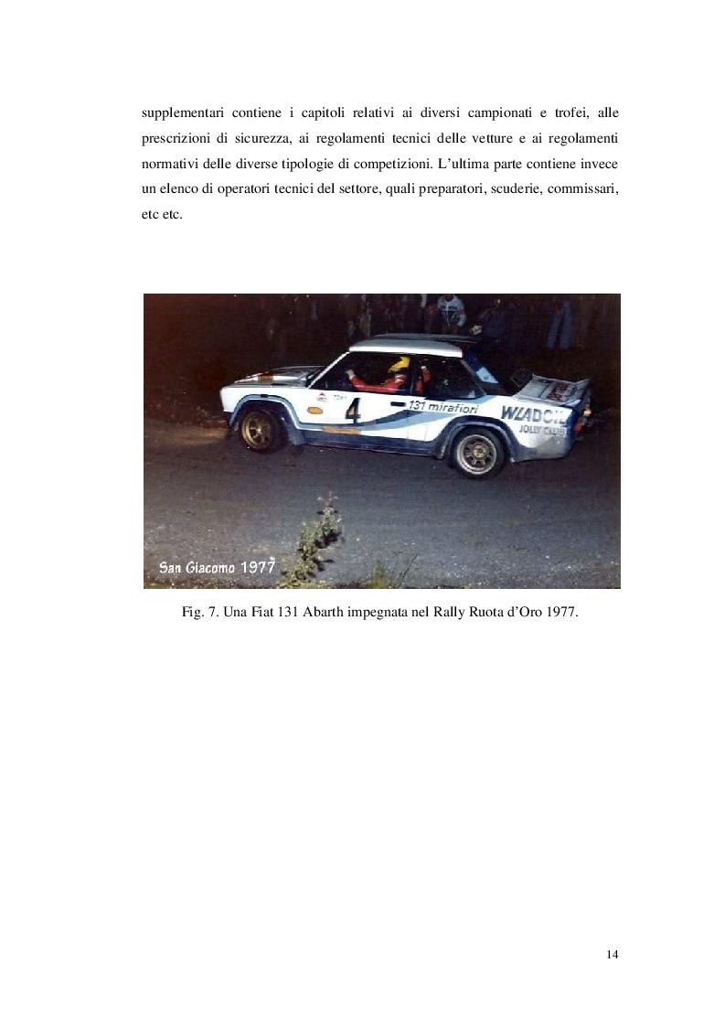 Anteprima della tesi: Organizzare un evento sportivo - 1° Rally Valli Monregalesi, Pagina 9