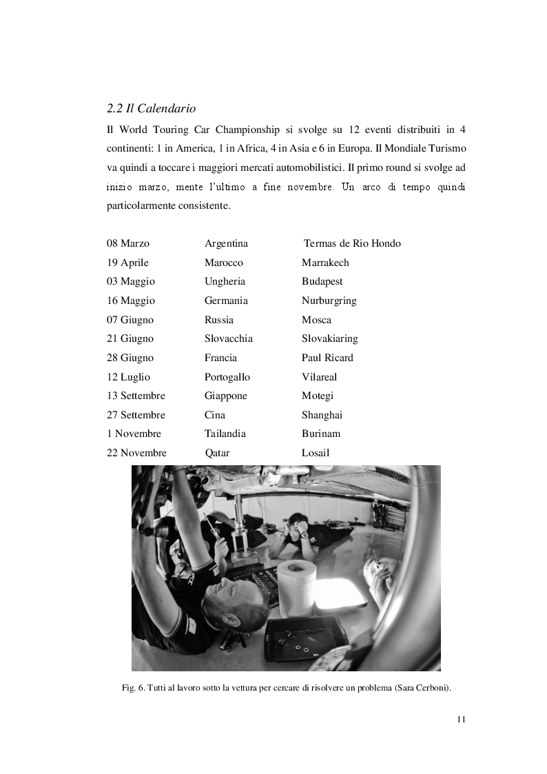 Anteprima della tesi: La gestione di un team automobilistico: Jas Motorsport nel World Touring Car Championship, Pagina 4