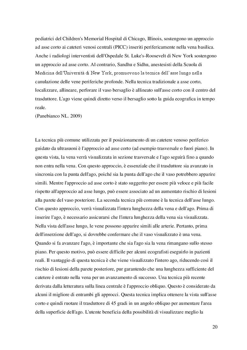 Anteprima della tesi: L'utilizzo dell'ecografo nella pratica infermieristica: il posizionamento di un accesso venoso periferico con guida ecografica. Revisione della letteratura, Pagina 4