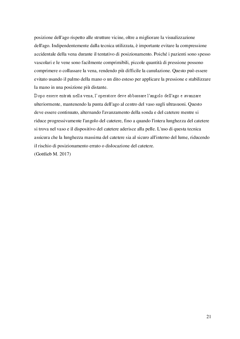 Anteprima della tesi: L'utilizzo dell'ecografo nella pratica infermieristica: il posizionamento di un accesso venoso periferico con guida ecografica. Revisione della letteratura, Pagina 5
