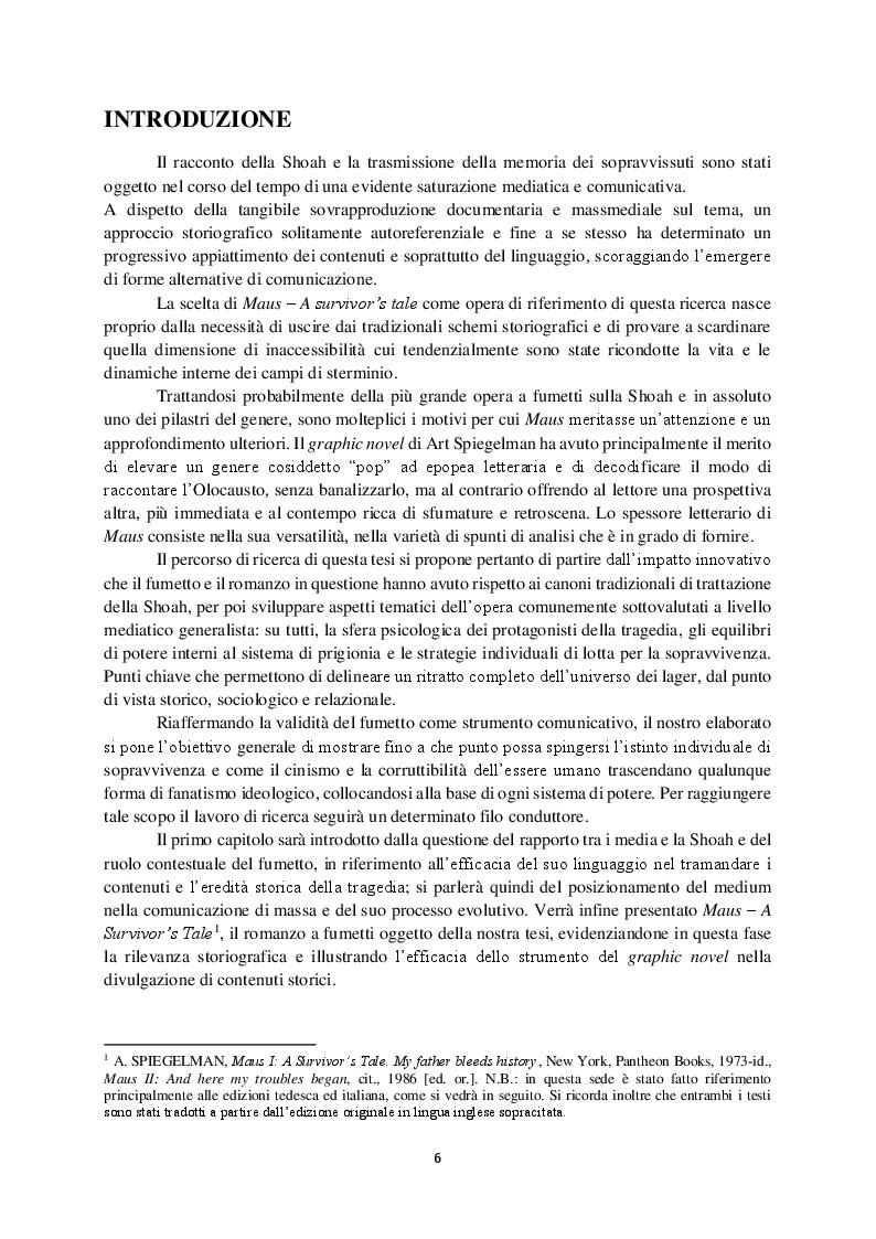 Anteprima della tesi: Il potere dell'immaginazione: Maus, il fumetto che sanguina storia, Pagina 3