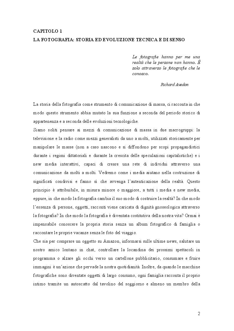 Anteprima della tesi: L'Evoluzione della fotografia: Trasformazioni di significato e mediali a servizio della costruzione della realtà, Pagina 3