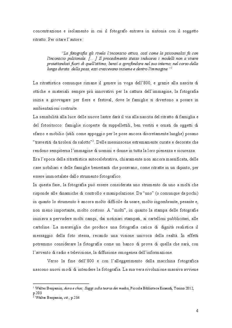 Anteprima della tesi: L'Evoluzione della fotografia: Trasformazioni di significato e mediali a servizio della costruzione della realtà, Pagina 5